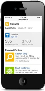 Microsoft rewards Android and iOS users who use the Bing Search Engine