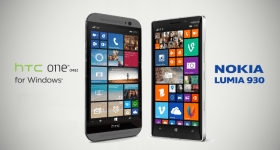 HTC One M8 versus Lumia 930