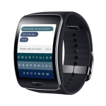 Samsung Gear S Fleksy keyboard
