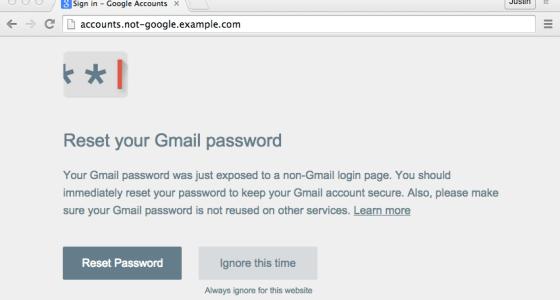 Password Alert by Google