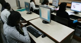 Strathmore Students in a computer lab