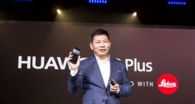 Huawei CEO Richard Yu at the launch of the Huawei P9