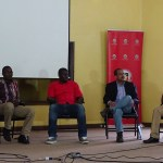 Panel Memebers from left Manoj Changarampatt, Bernard Banta, Mike Kimathi, Raymond Hightower and Martin Gicheru