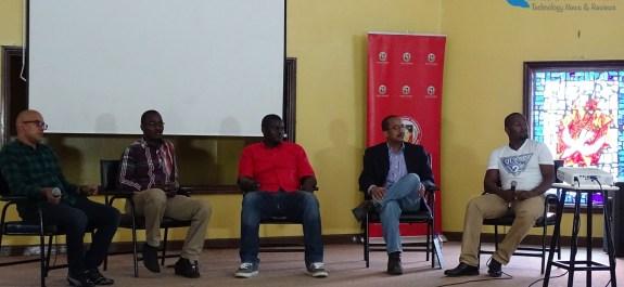 Panel Memebers from left Manoj Changarampatt, Bernard Banta, Mike Kimathi, Raymond Hightower and Martin Gicheru