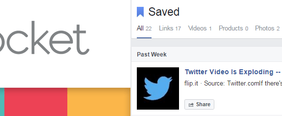 Saved to Facebook vs Pocket