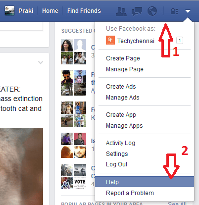 Delete Facebook Permanently step 1