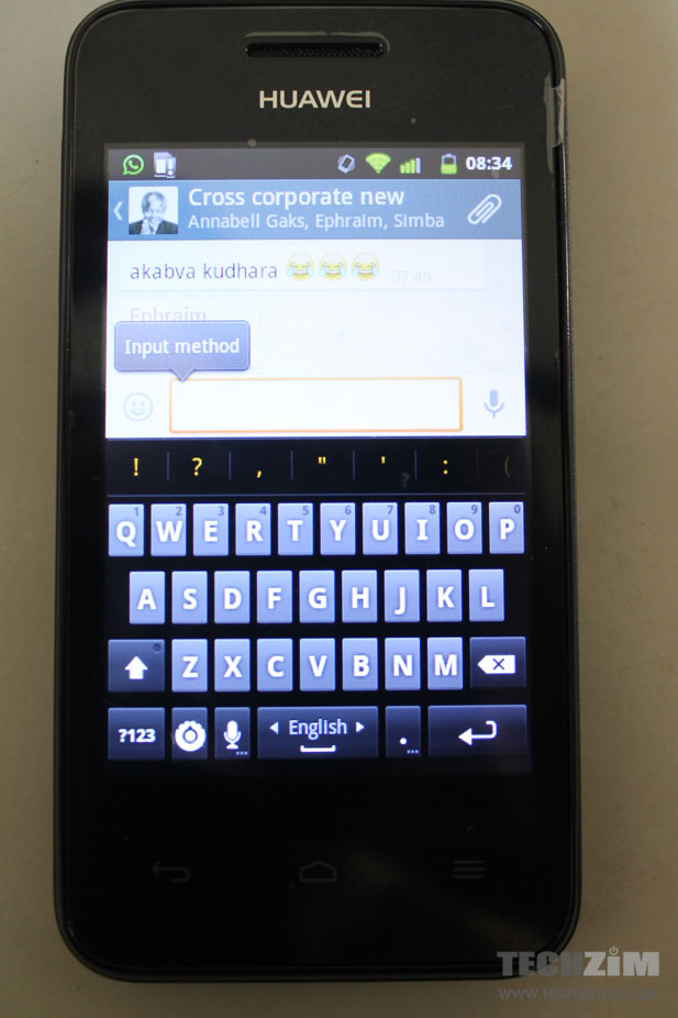 It's a bit difficult to type on the default Android keypad on the Huawei Y220
