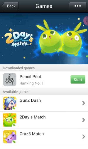 WeChat Games screen
