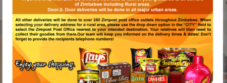 Zimbogini popup advertising partnership with Zimpost