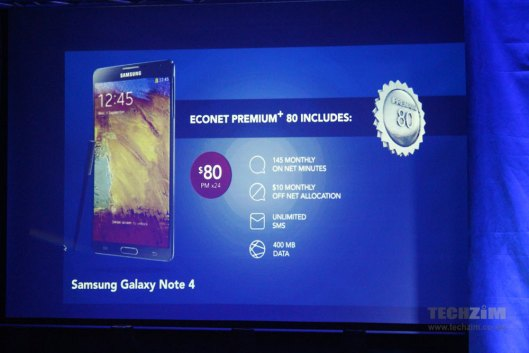 Galaxy Note 4 now available at Econet
