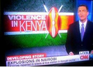 CNN 0 Violence in Kenya report