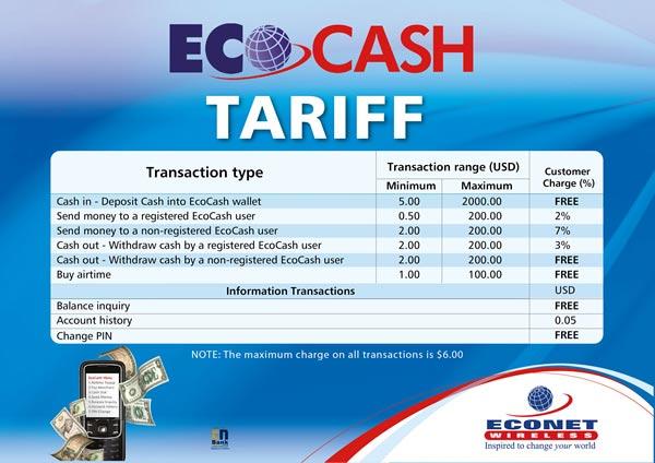 ecocash-old-tariffs