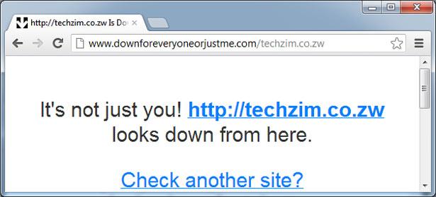 Techzim Down