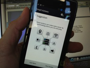 """Smart Actions"" en el Motorola RAZR de la red de Claro"
