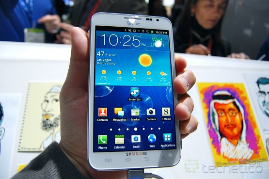 Samsung Galaxy Note para AT&amp;T en color blanco