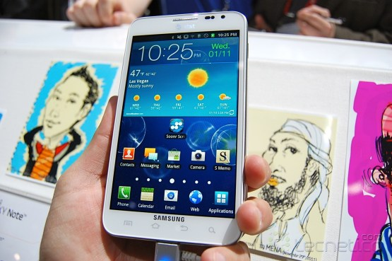 Samsung Galaxy Note para AT&T en color blanco