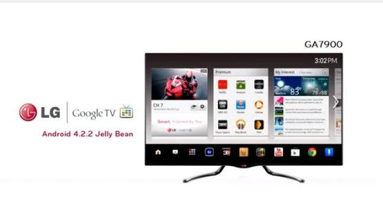 Actuaizacin de Android Jelly Bean para los televisores LG con Google TV. (Foto: LG)