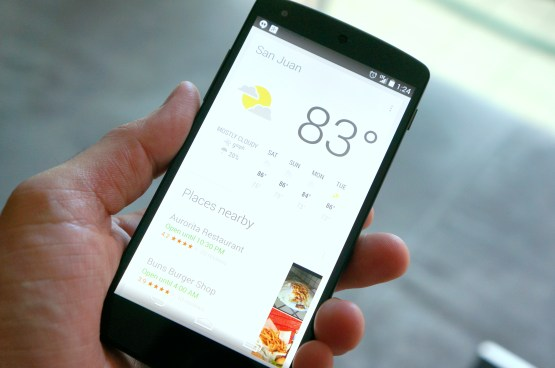 Google Now en el Nexus 5