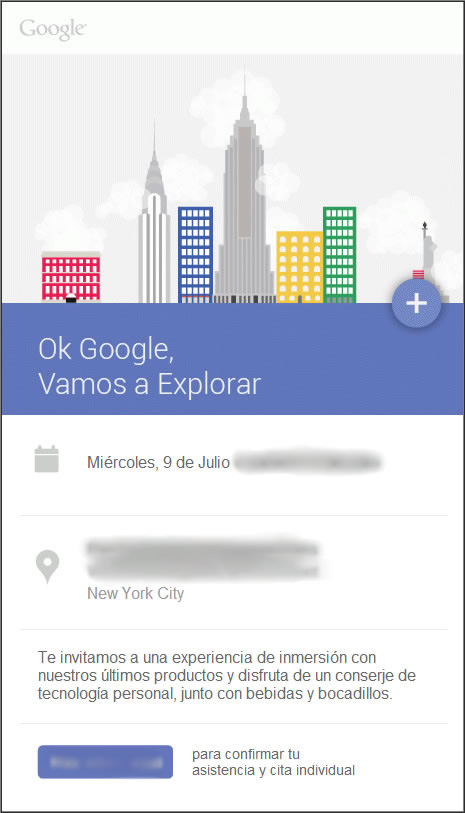 Google July 2014 event Invite