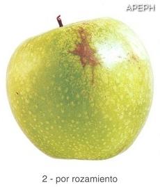 Russeting por rozamiento en Manzana