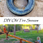 DIY Teeter Totter / Seesaw From Old Recycled Tire