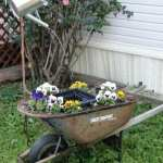 DIY Water Fountain & planter from an old Wheelbarrow!
