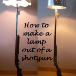 Make a rustic lamp out of a real shotgun