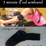5 minute DIY iPod, Cellphone armband from an old sock