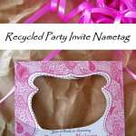 Recycle Party Invite into Name Tag