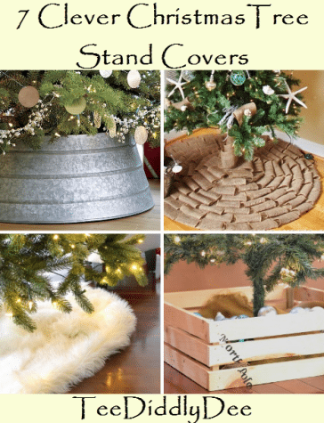 7 Clever DIY Christmas Tree Stand Covers TeeDiddlyDee