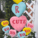 Giant Conversation Heart Valentine Topiaries