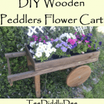 DIY Wooden Peddlers Flower Cart