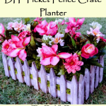 DIY Picket Fence Crate Planter