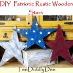 Patriotic Rustic Wooden Stars