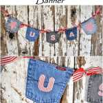 DIY Jean Pocket Patriotic Banner