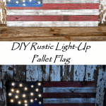 DIY Rustic Light Up Pallet Flag