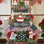 DIY Patriotic Three Tiered Stand/Tray