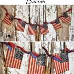 DIY Mini Burlap Patriotic Flag Banner