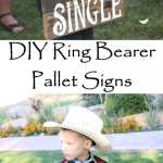 DIY Ring Bearer Pallet Signs for Weddings