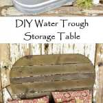 DIY Water Trough Storage Table