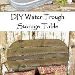DIY Water Trough Storage Table
