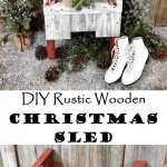 DIY Rustic Wooden Christmas Sled