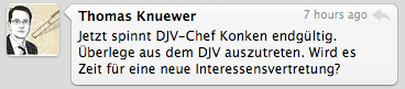 Konken-Tweet von @tknuewer