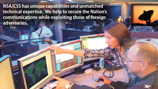 Screenshot from the NSA Core Values brochure