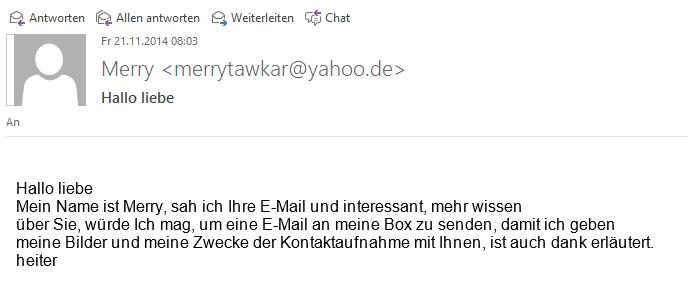 Spam-Mail aus meiner Inbox