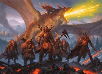 Atarka's-Command-Dragons-of-Tarkir-MtG-Art