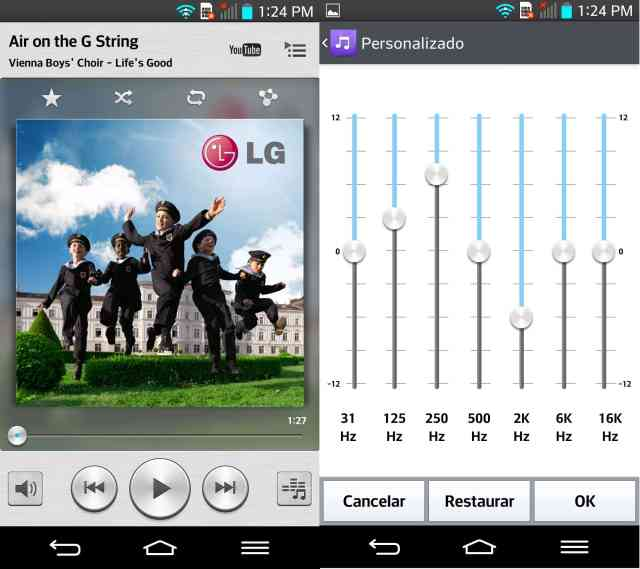 review lg g2 - musica