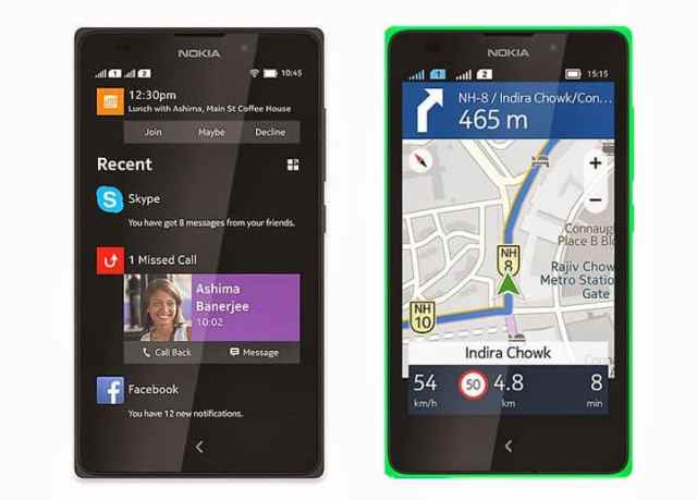 Here Maps para Android no Nokia XL