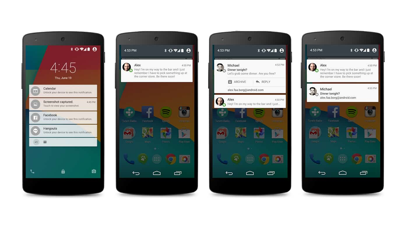 android 5.0 lollipop notificacoes
