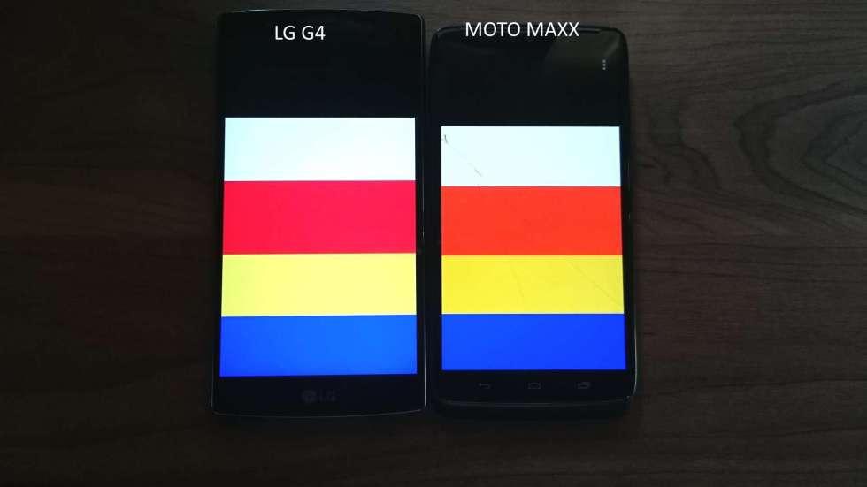 LG G4 tem cores mais fiéis que no AMOLED, mesmo tendo o mesmo brilho.